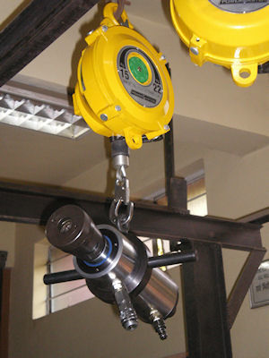 spring balancers for tooling and machinery at zero gravity.
